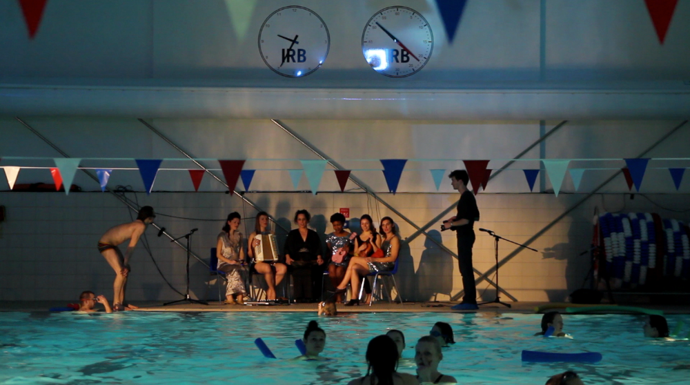Lina Lapelytė, Candy Shop, performance 2013, Iron Monger Row Baths. Photo by Federcio Strate Pezdirc