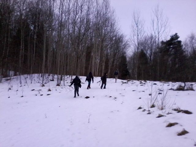 Vitalij Červiakov, TylĖjimai (Silent Walks), since 2010: Walking southwest, photograph by Jurij Dobriakov.