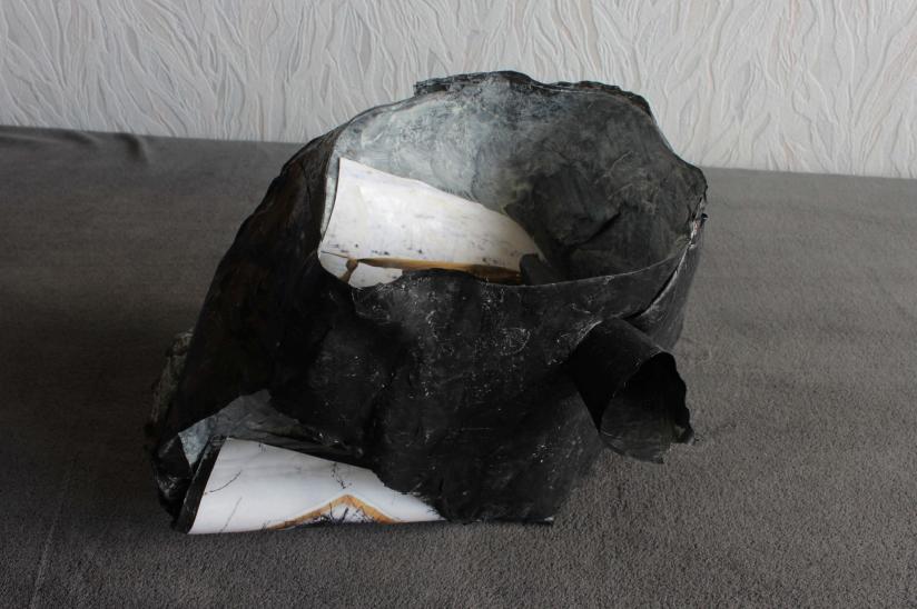 Jamie Kane, Untitled, Heat bonded plastic, c-type prints, metal polish, 2015