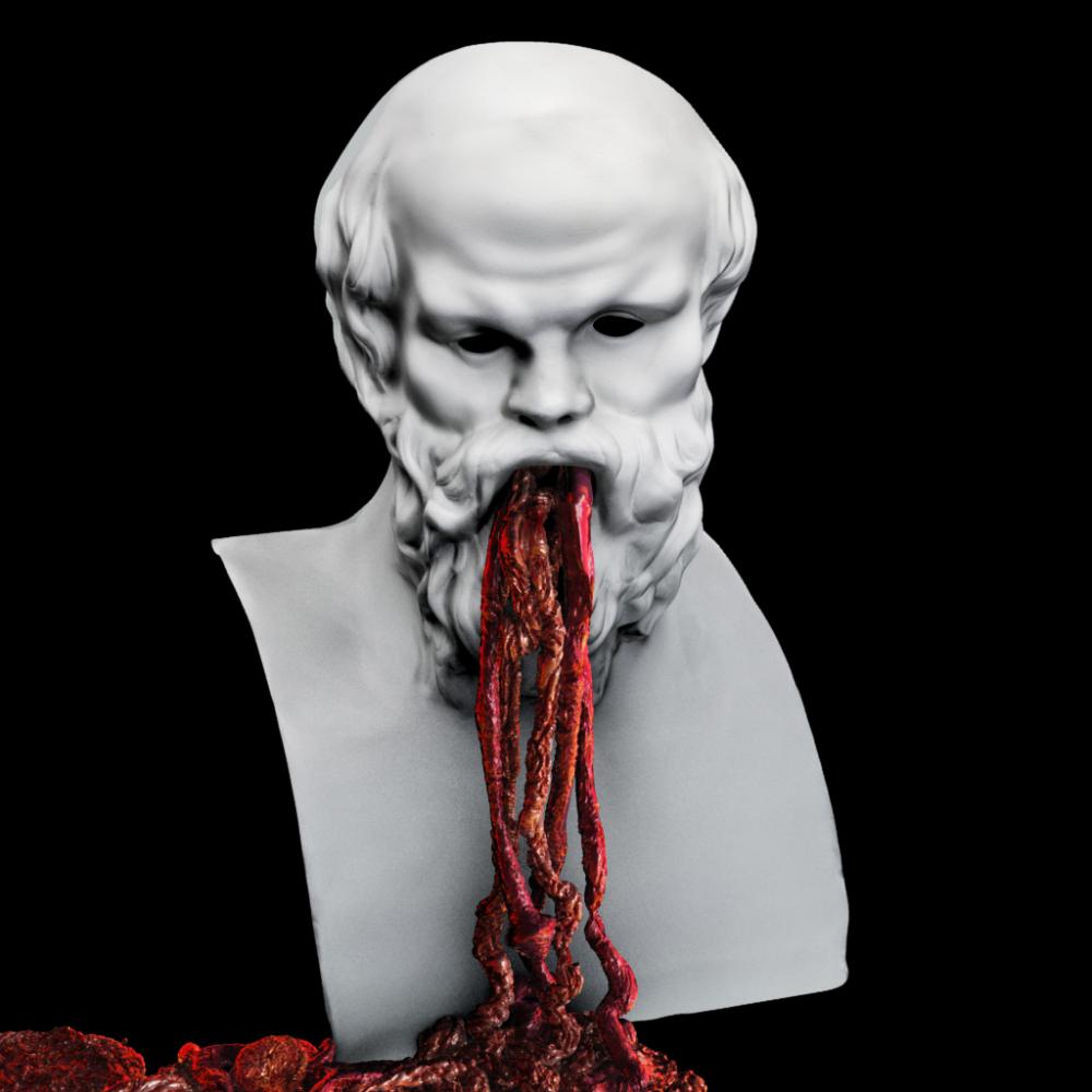 Rimas_Sakalausas_Instaliacija_Posedis_Sokratas_2015_trimate_video_projekcija_skulptura