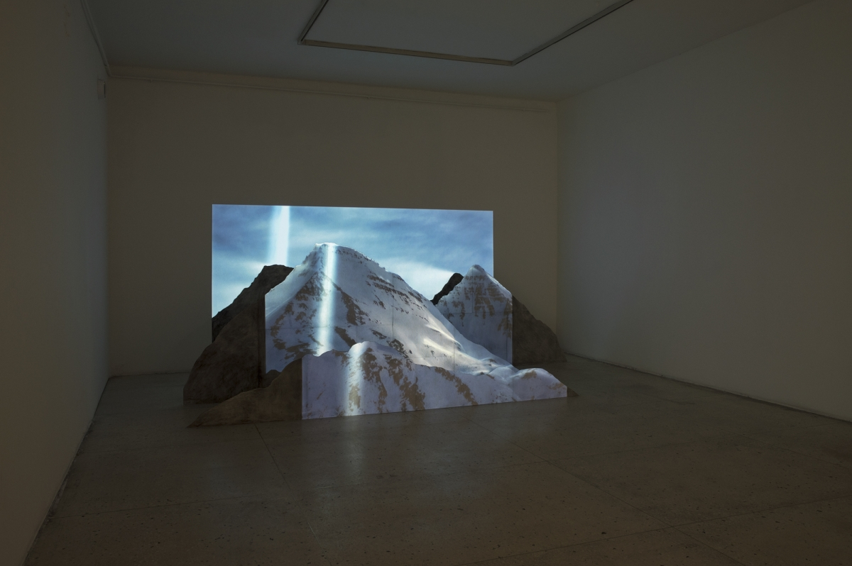 Katrine Gram Sloth. Vista Re-visited, 2015-16. Projected photograph on construction(1)