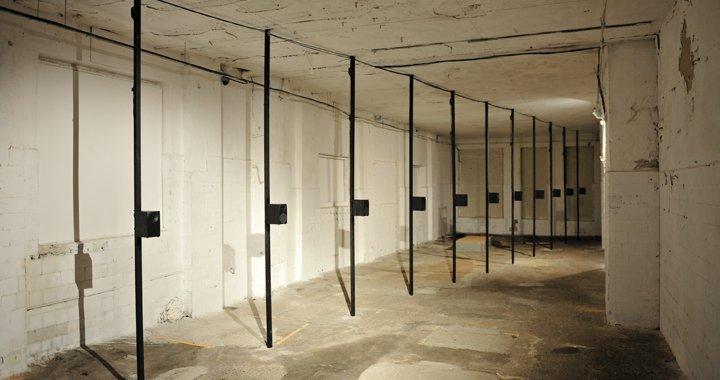 "Krišs Salmanis, Anna Salmane, Kristaps Pētersons ""Study"". Installation with audio loop. 2016"
