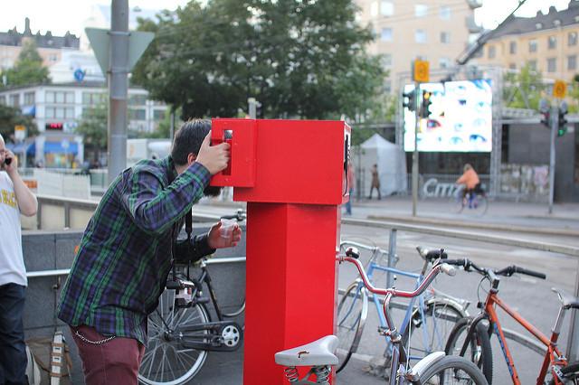 Binoculars to… Binoculars from… MediaFacade Festival Helsinki. Courtesy: Varvara& Mar