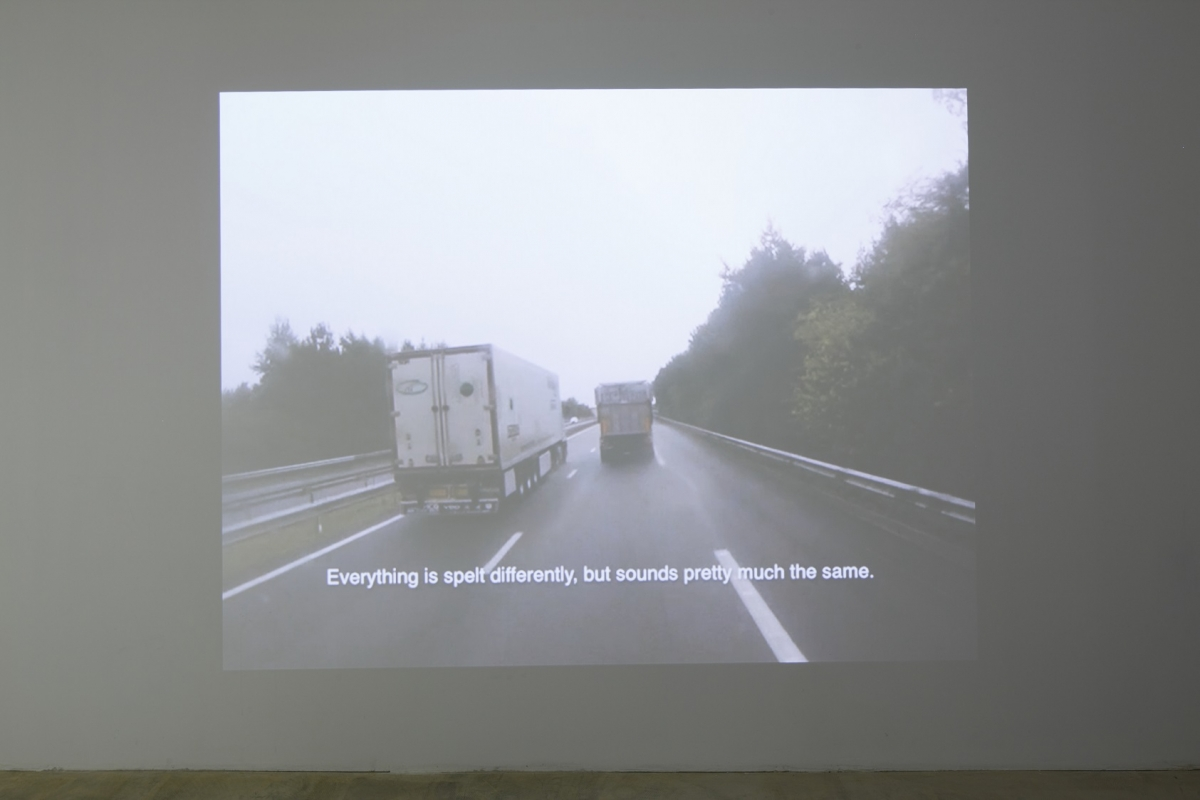 Diana Tamane, Message: 147 of 494, exhibition view, kim? Contemporary Art Centre, Riga, 2016. Photo: Ansis Starks