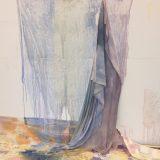 Agnė Juodvalkytė, UNTITLED, Pigments on canvas, 185 x 220 cm, 2016