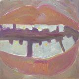 """Liina Kalvik. """"Lasnamäe smile"""". Oil on canvas. 100 × 100 cm. 2015"""