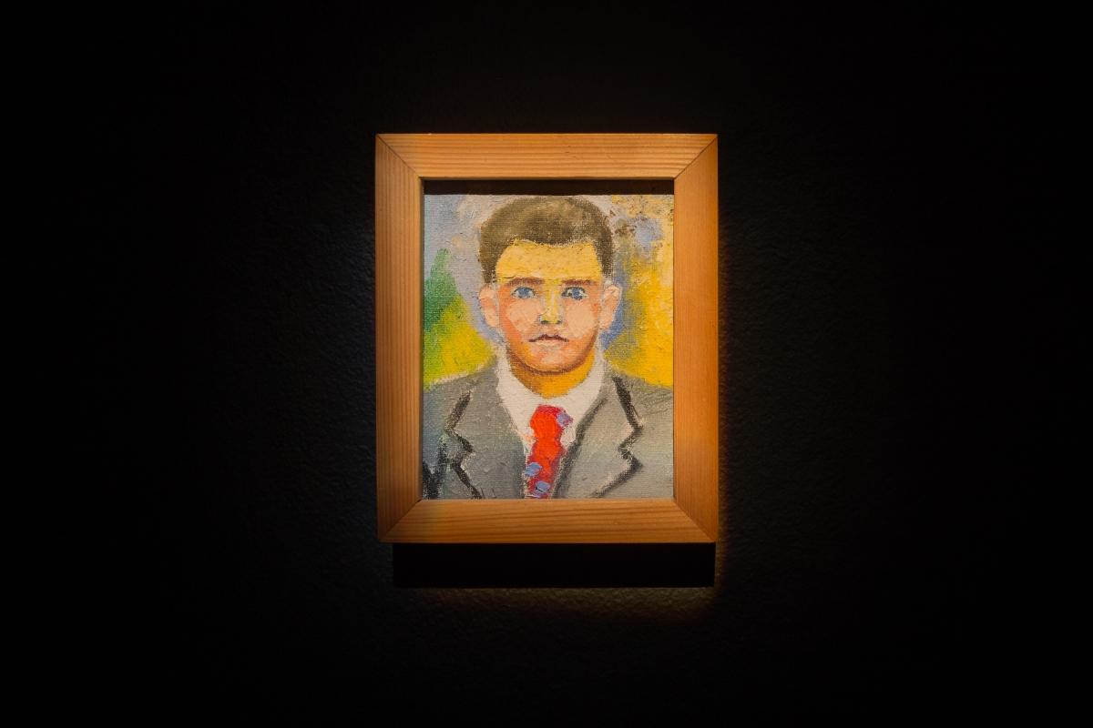 Algimantas Julijonas Stankevičius, Portrait, circa 1965. Oil on canvas; 14.5 x 11.5 cm.