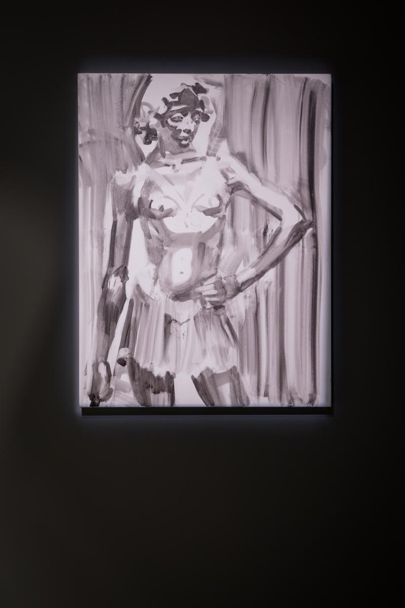 Rūtenė Merkliopaitė, David, 2015. Oil on canvas; 105 x 80 cm.