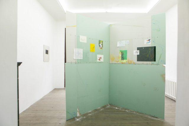 Mirak Jamal, - cornered -, installation view, 427 Gallery, Riga, 2017