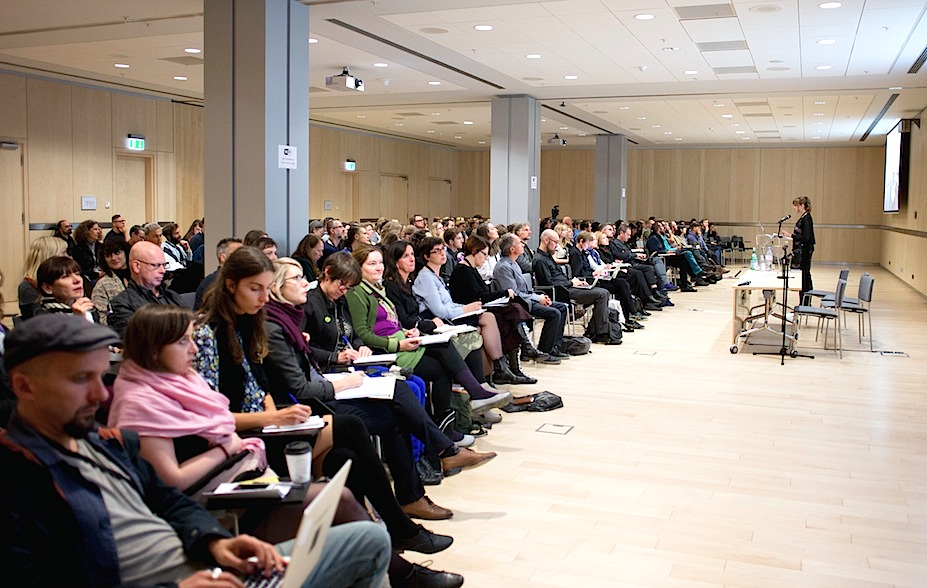 """Conference """"Open Fields 2015"""" key-lector, Christiane Paul; Photo: Kristine Madjare"""