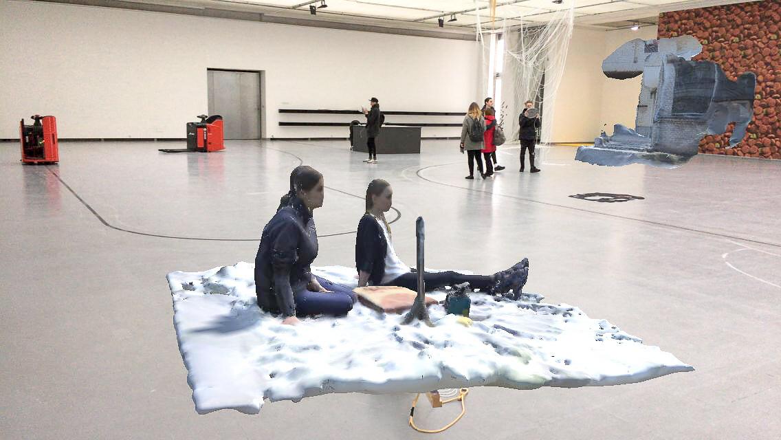 Robertas Narkus, 'Träger', exhibition view, CAC, Vilnius, 2017