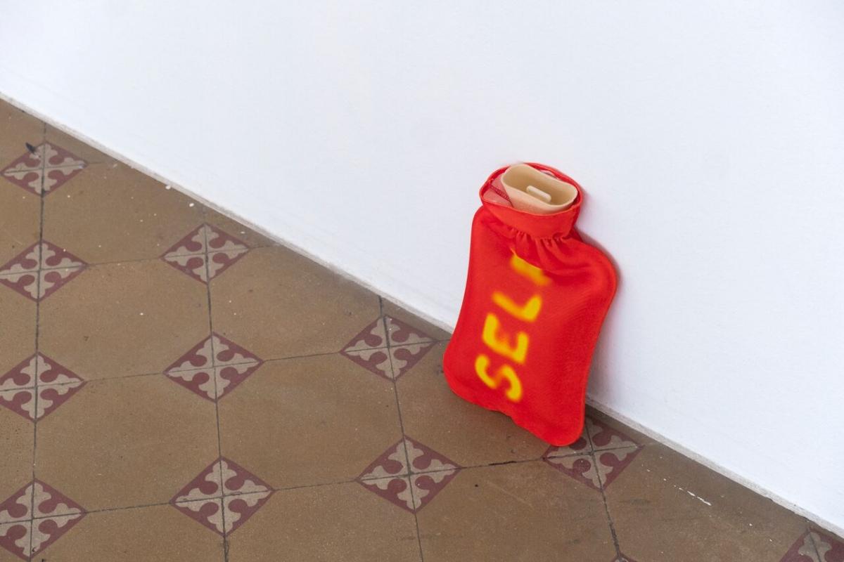 SELF. Jacket for hot water heating bag, digital print on textile