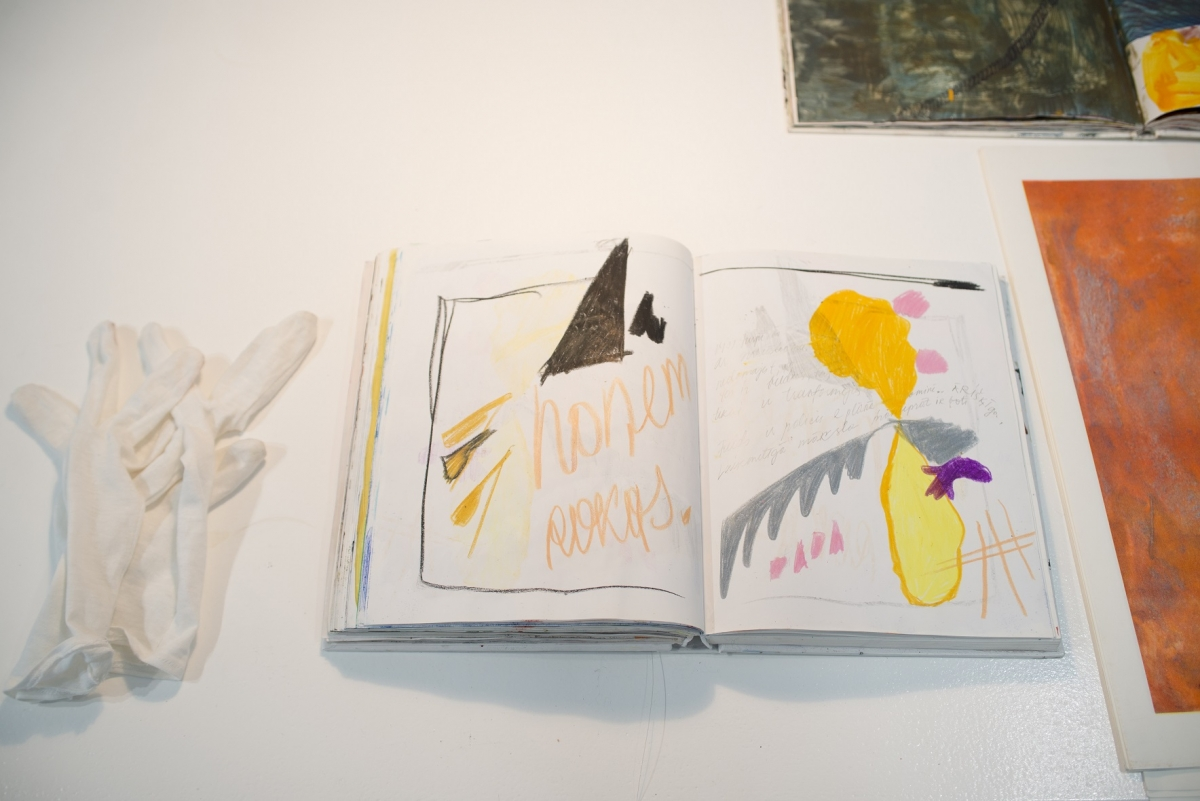 Inga Meldere. Sketch Albums. Tempera and oil on paper. 2014–2017. Photo: Valdis Jansons