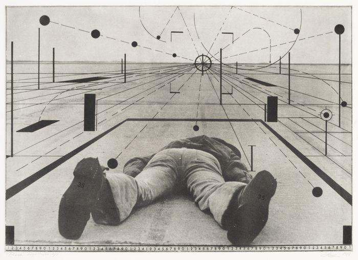 Jüri Okas (1950) Lying. 1974, Intaglio, Art Museum of Estonia