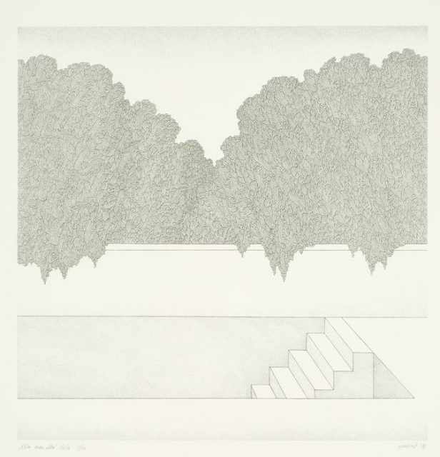Mare Vint, Way to the Underground. 1978, Lithograph, Art Museum of Estonia