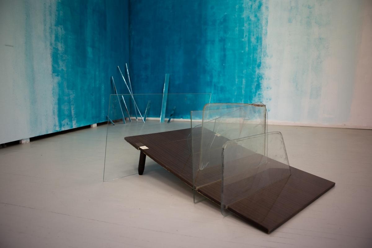 """""""Tonometer II"""", wood, glass, paper, 2017"""