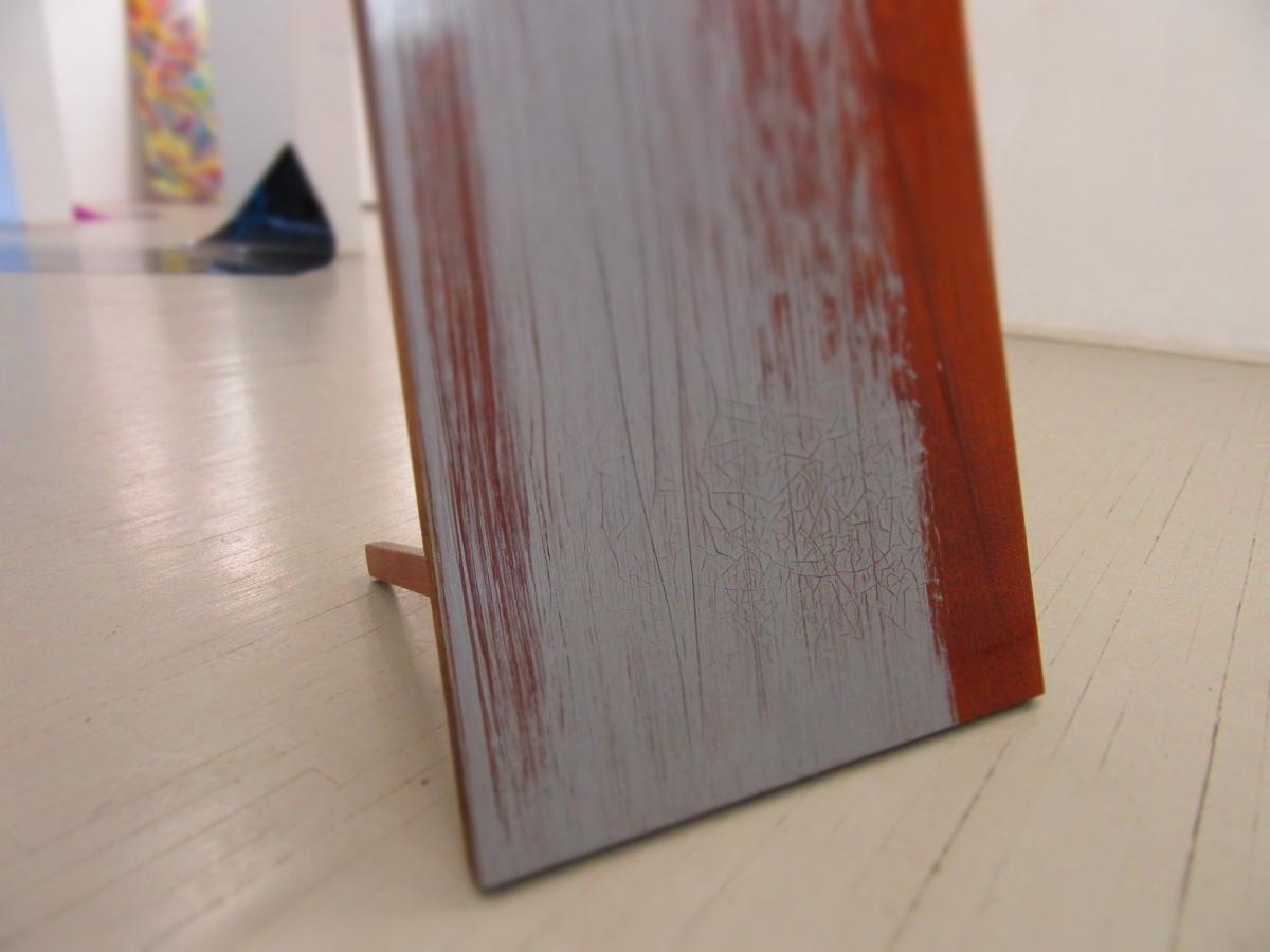 """""""Board"""", wood, aluminum paint, varnish, 2017"""