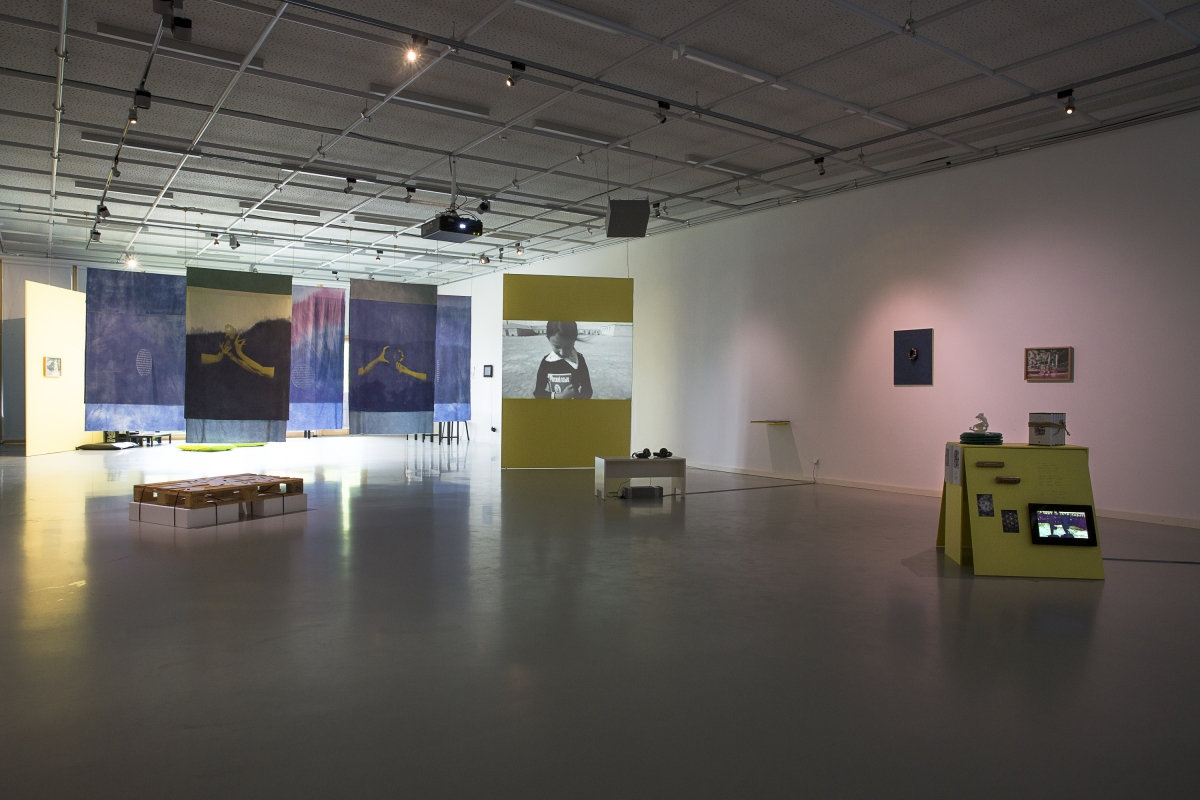 When the Sea Looks Back (A Serpent's Tale), exhibition view, VAA Nida Art Colony, Neringa, Lithuania, 2017