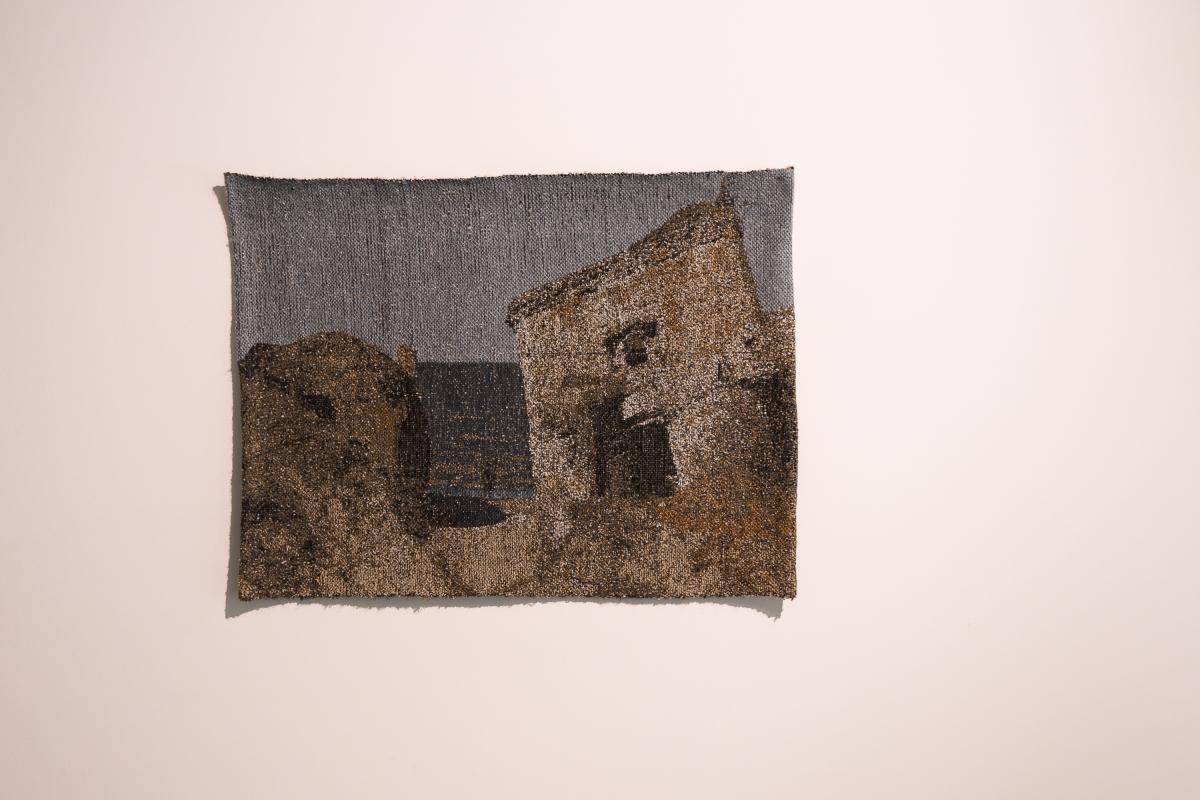 Ieva Epnere, Sea of Living Memories, wool, silk tapestry, 92 × 70 cm, 2016
