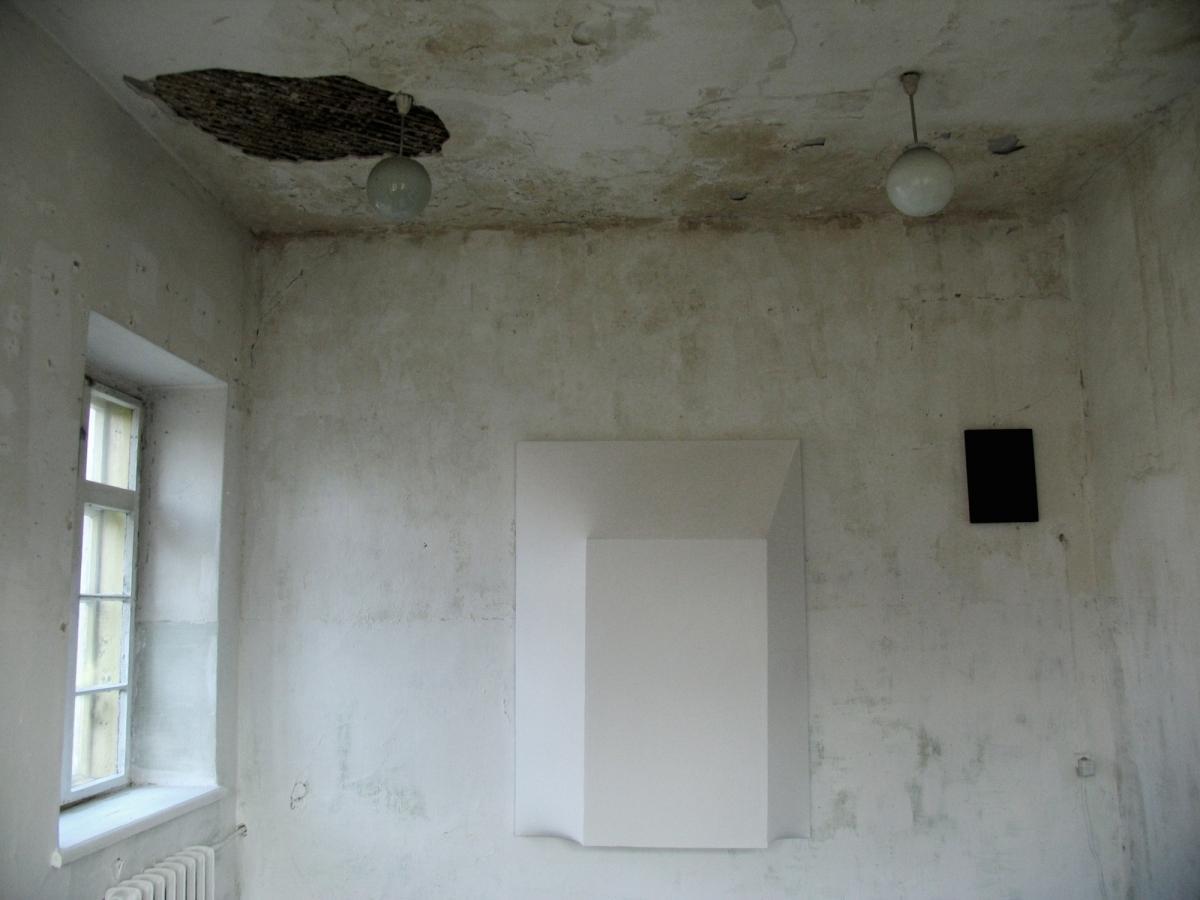 'Introspection' , wood, canvas, acrylic paint, 190x140x50 cm, 2012