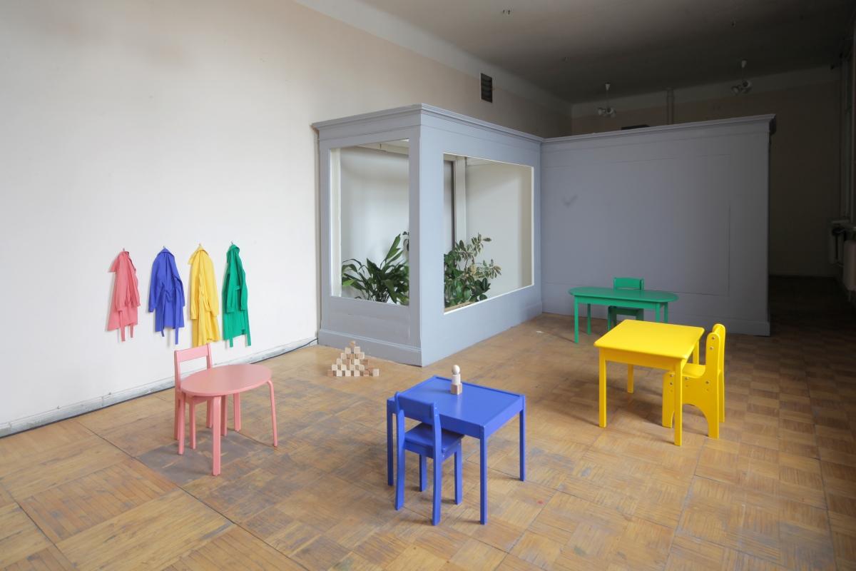 Ieva Epnere. Green School. HD video, installation, 2017