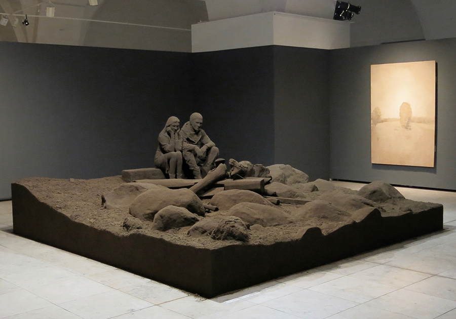 Andris Eglītis, Earthworks, fragment of exhibition, 2011