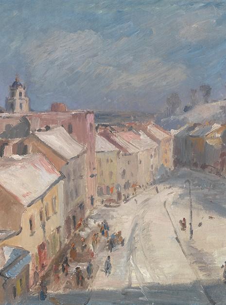 Vytautas Mackevičius. Vilnius. Didžioji street, 1942. Fragment