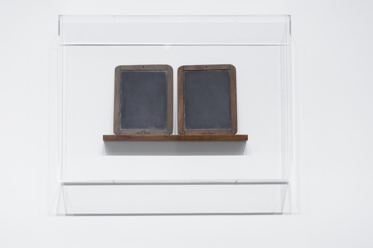 Vija Celmins. Blackboard Tableau #15, 2017. Photo: Andrejs Strokins. Latvian Centre for Contemporary Art, 2017