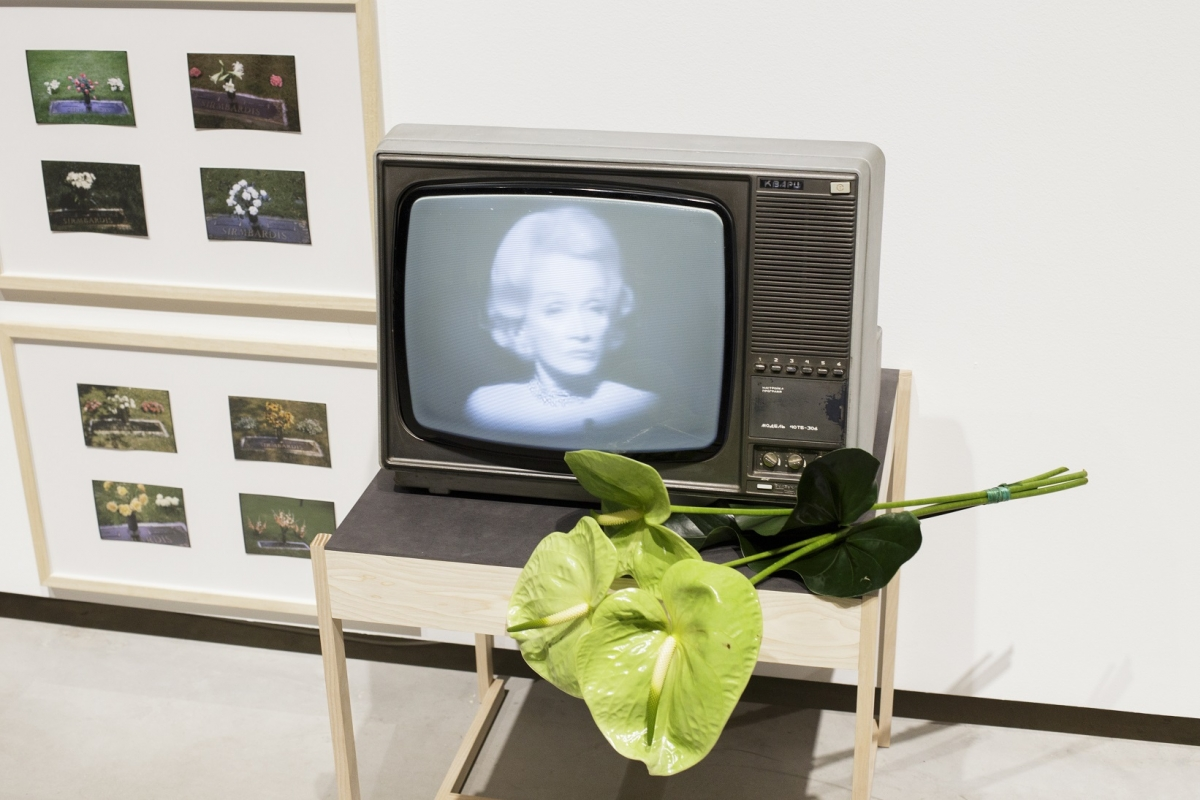 Marlene Dietrich. Where have all the flowers gone? Photo: Kristīne Madjare. Latvian Centre for Contemporary Art, 2017