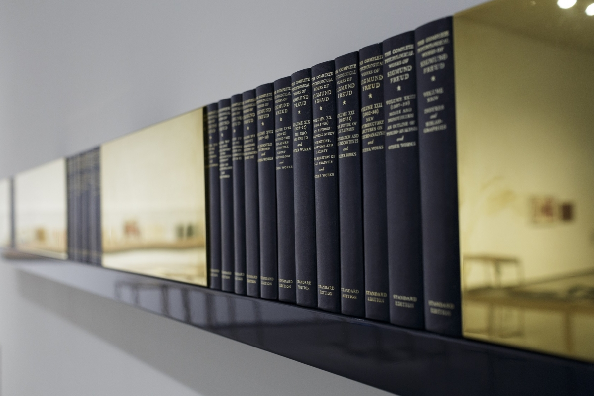 Rodney Graham. Supplemented standard edition with Prussian blue shelf (for Eindhoven), 1990-1991. Collection Van Abbemuseum, Eindhoven. Photo: Andrejs Strokins. Latvian Centre for Contemporary Art, 2017