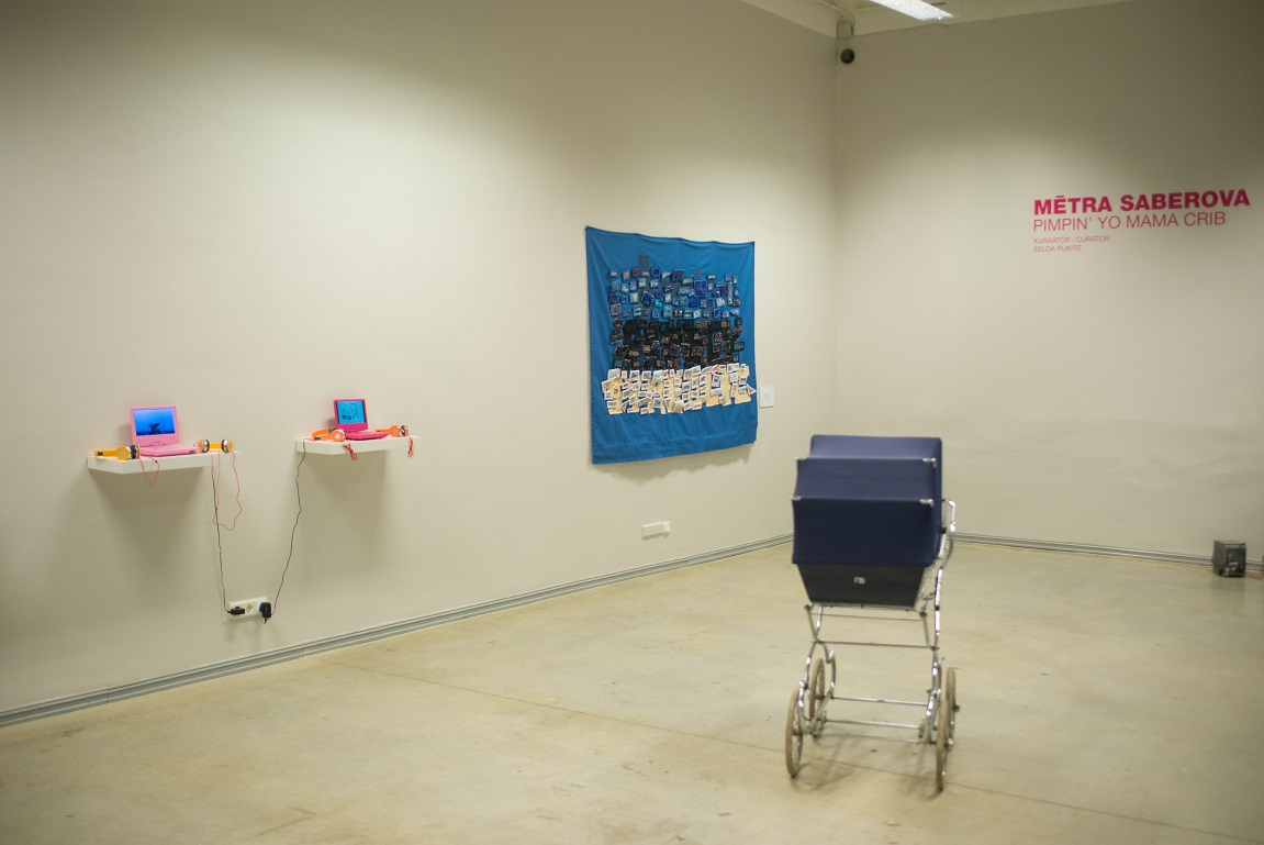 Mētra Saberova Pimpin'Yo Mama Crib 2017, exhibition view