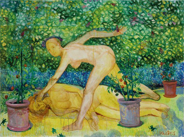 """Kristaps Zariņš (LV). """"De Meaux"""". Watercolour, gouache, acrylic, varnish on paper. 148 x 198 cm. 2017. Photographer: Normunds Braslins (LV)"""