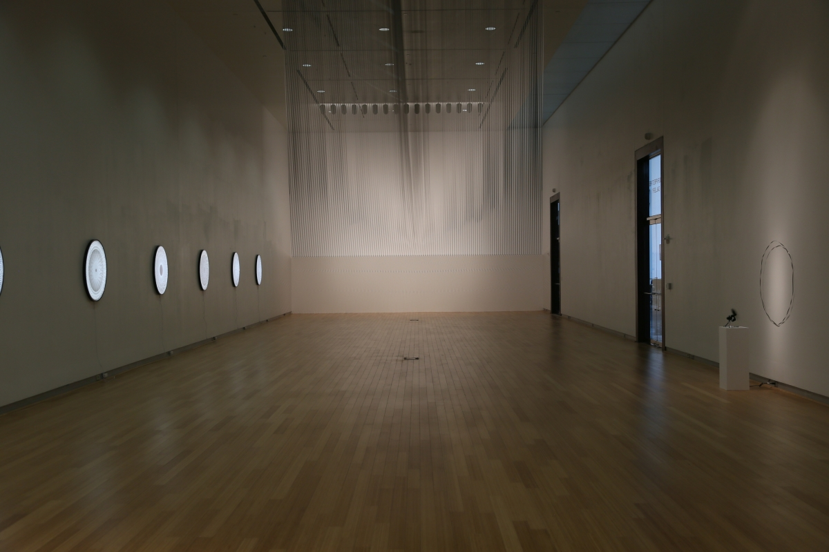 V Formation, 2018, site specific installation, dimensions variable, magnetic tape