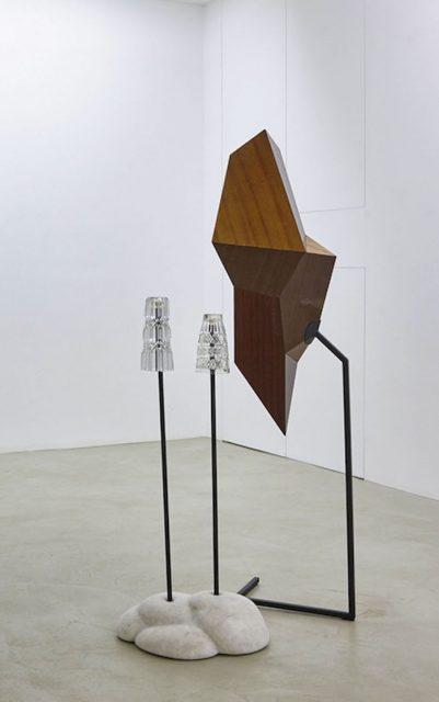 Nerijus Erminas, Living room, furniture panel, marble, crystal, metal, installation, 2016