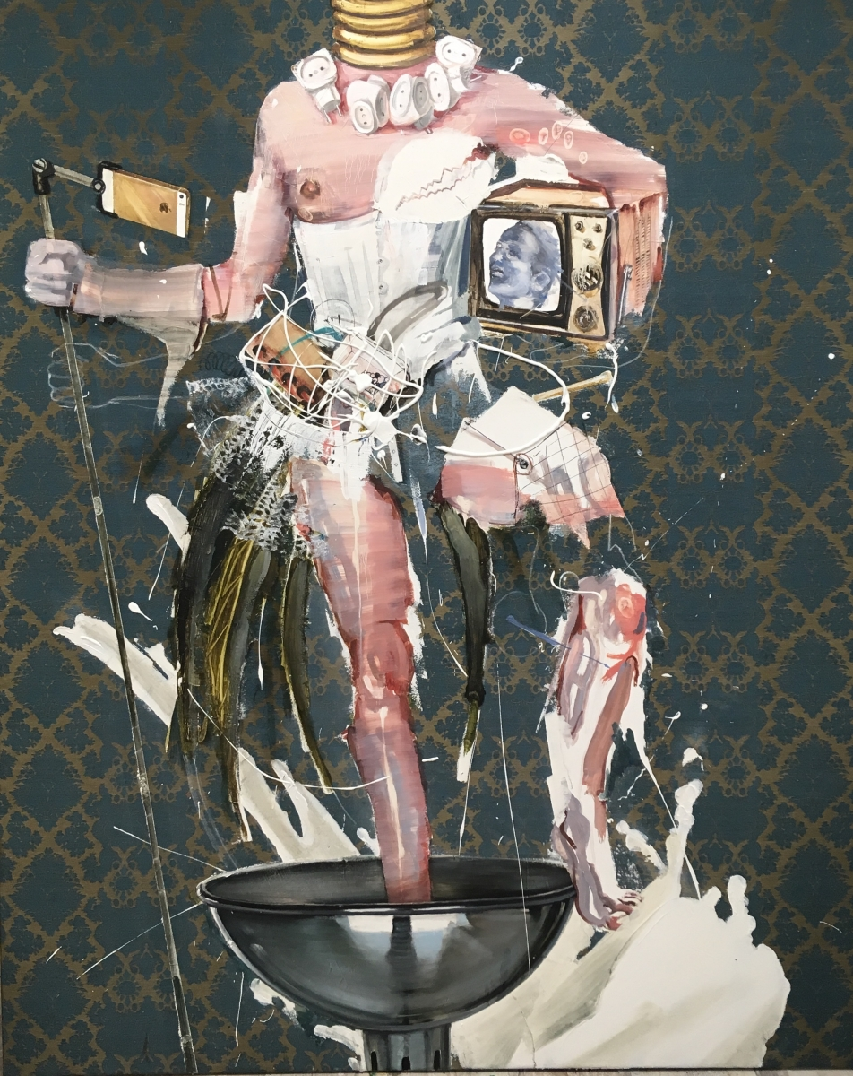 The Birth of Venus 4, 170x140, oil, acrylic on canvas, 2017