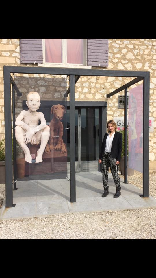 Galerie Art contemporain 22 ,Coustollet, France 2017. From personal Ruta Jusionyte archive