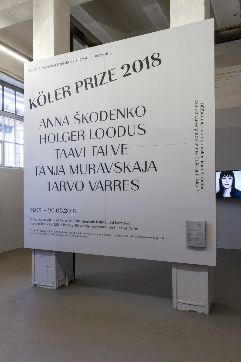 Köler Prize 2018. Exhibition of Nominees at EKKM