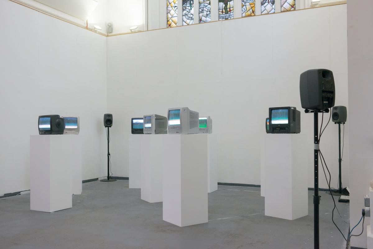 Sandra Kazlauskaitė, Airport, 2016, multi-channel audio & video installation, St. James Hatcham Gallery, London, photo from artist archive