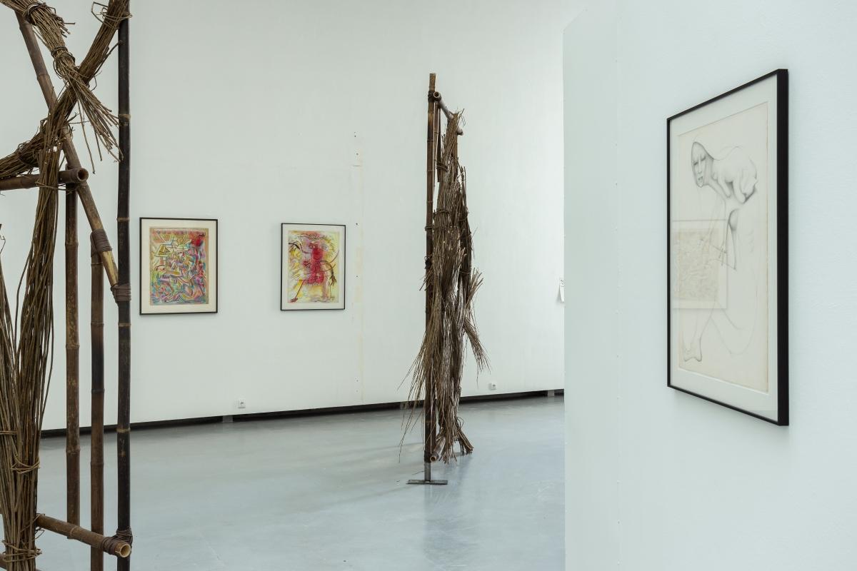 Works by E'WAO KAGOSHIMA and CAROLINE ACHAINTRE