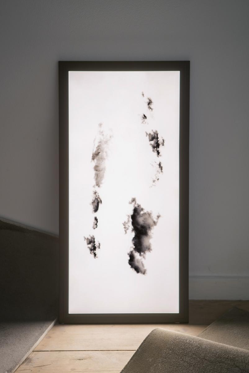 Jokūbas Čižikas, Omnidust, 2018. Memory foam, lightbox