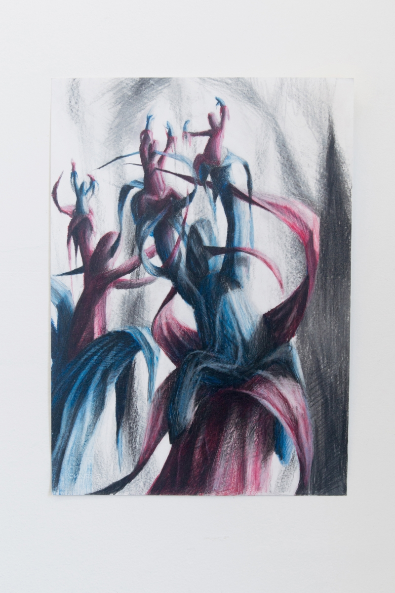 Viktor Timofeev (A / B) / A, 2018 Coloured pencil on paper 13-3/4 x 9-3/4 inches