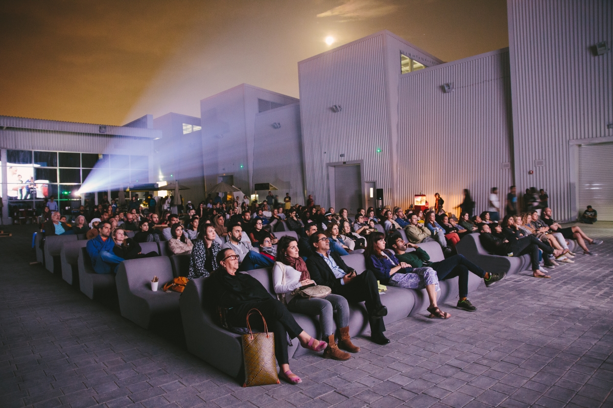Film screening in The Yard at Alserkal Avenue. Photo: Angelo Aguilar