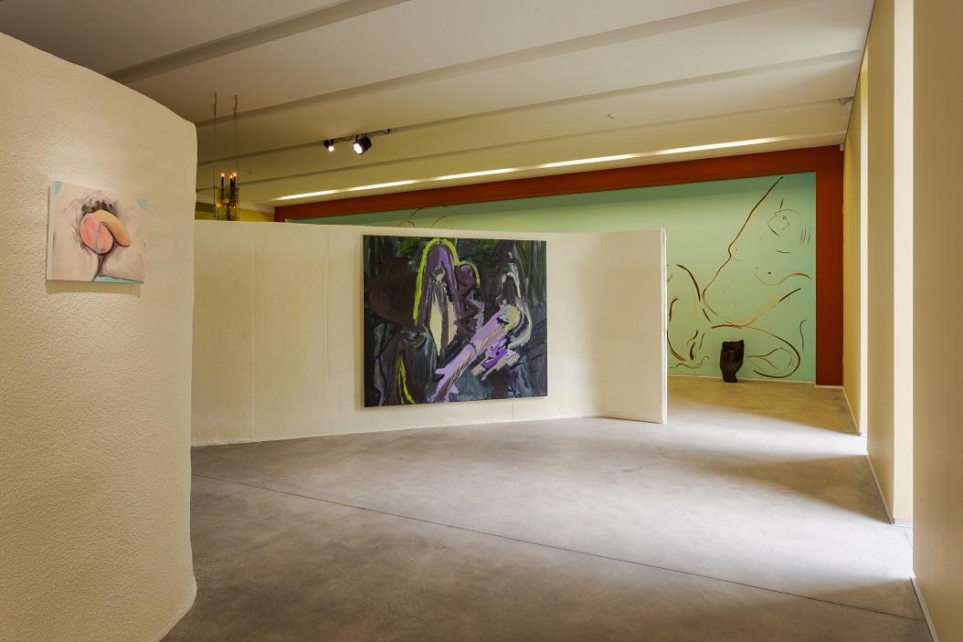 Stefania Batoeva, Never Sleep Never Die, 2017. Acrylic and oil on canvas, 170 x 200 cm. Entangled Tales, exhibition view, Rupert, 2018