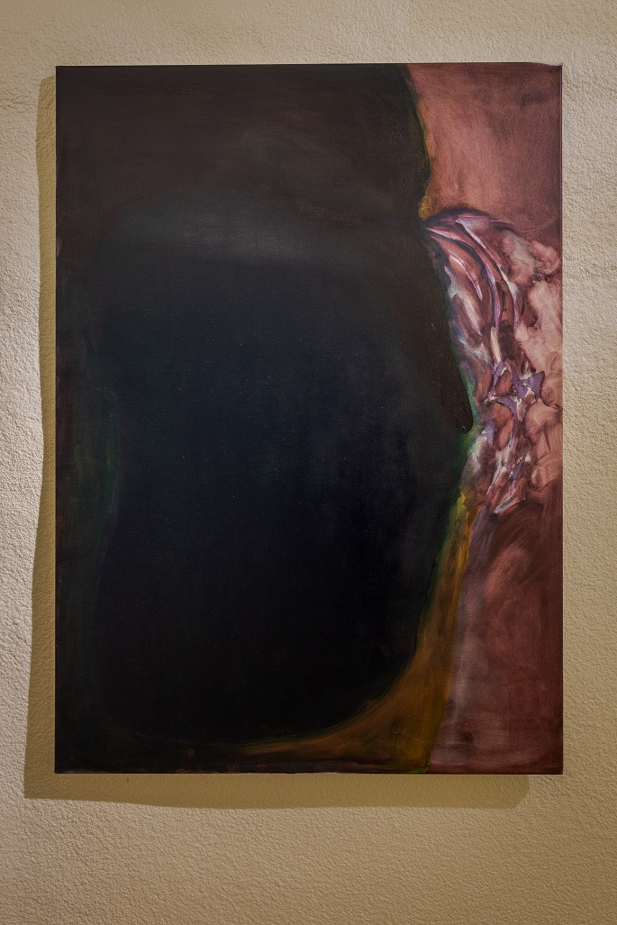 Rosalind Nashashibi, The Exiled Prime Minister, 2017. Oil on canvas, 140 x 100 cm