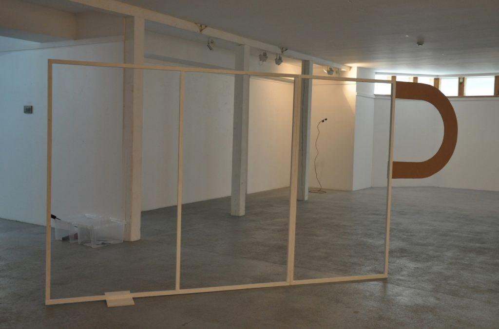 "1.A view of the exhibition. Gediminas G. Akstinas ""Companions"" (2017)"