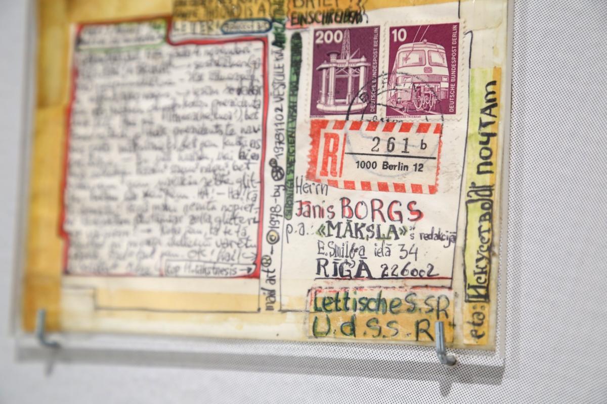 Valdis Āboliņš, Postcard from Valdis Āboliņš to Jānis Borgs from 1979