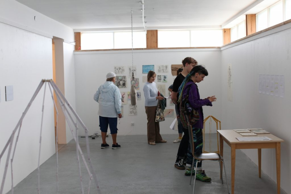 Visitors, exhibition view.