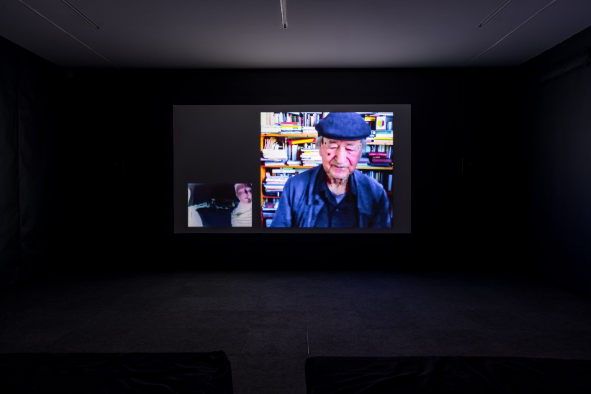 Jonas Mekas (in conversation with Justė Kostikovaitė London artist Johnston Sheard) On Life, 2016. Video, 63 min. Courtesy of www.thedeepsplash.com