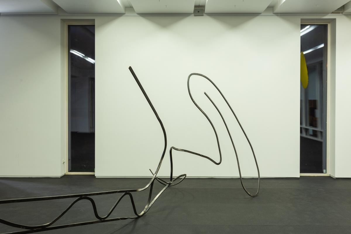 Rytis Urbanskas (1991, LT), Song of the siren (Sirenės daina), 2018, steel sculpture, variable dimensions.