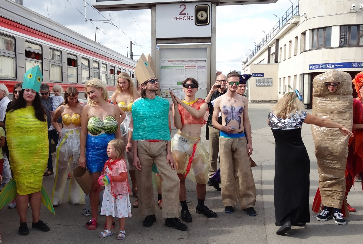 "GolfClayderman fashion show ""Exotic Fishes"", Riga Central Station, 2018"